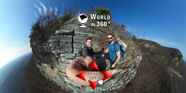 360° Photo: Top of the Gunks Rappel