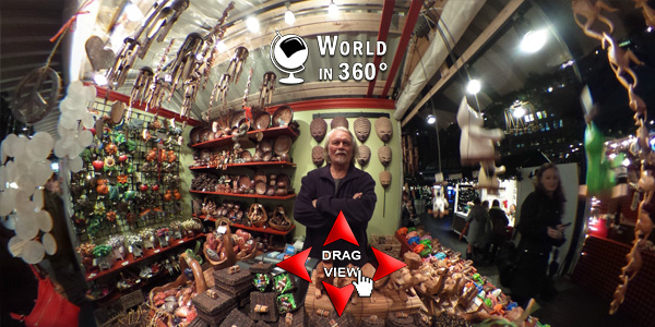 360° Photo: Bryant Park Holiday Market Booth