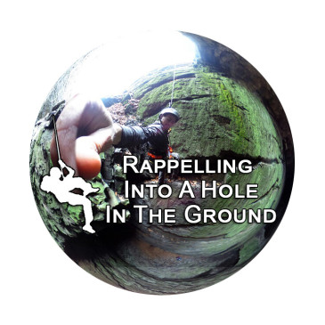 360° Video: Rappelling Into A Hole In The Ground