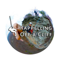 360° Video: Rappelling Off A Cliff