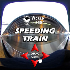 360° Video: Speeding Train