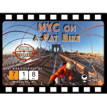 360° FILM: NYC on a Fat Bike